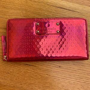 Kate Spade Hot Pink Iridescent Wallet